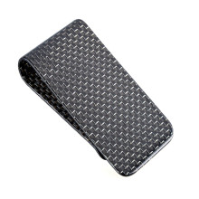Carbon Fiber Silver Money Clip for Card Keeping