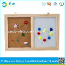 combination cork board and white board