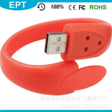 OEM Silicone USB Bracelet / Wristband 2.0 USB Flash Drive for Gift