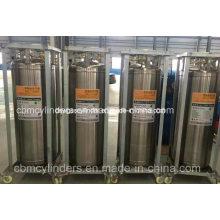 Welded Insulated Cryogenic Liquid Oxygen Nitrogen Container Dewar Cylinders