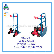 heavy duty six wheel stair climbing hand trolley
