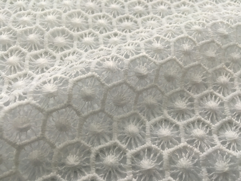 Sunflower Chemical Lace Embroidery Fabric