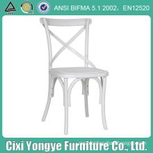 plastic resin cross back chair for restaurant