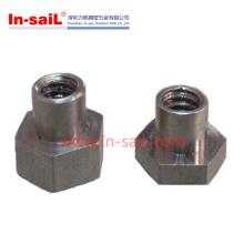 Écrou hexagonal en acier inoxydable avec insert inférieur