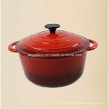 5.5qt Enamel Cast Iron Casserole Price FDA Approved Factory