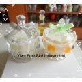 Diseño atractivo barato cristal jarra vela imperial corona en forma de