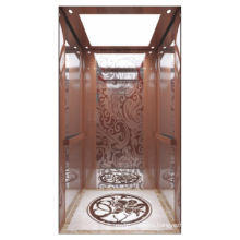 2021 Hot selling Rose titanium mirror etching stainess steel home lifts residential elevator