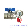 Forged NPT thread 600WOG brass ball valve with butterfly handle1/2''-1''