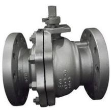 Válvula de esfera sanitária de aço inoxidável da braçadeira / solda / linha / flange (carcaça de investimento)