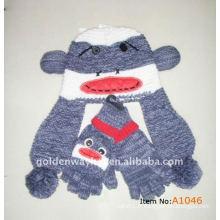 Chapeau et ensembles de gants en tricot pour adultes