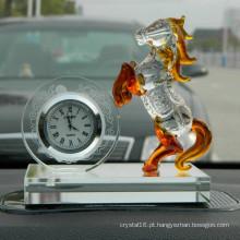 Cliente design promoção presente relógio de cristal