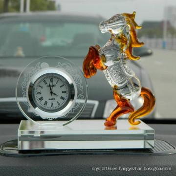 Regalo de promoción de diseño de cliente Reloj de cristal