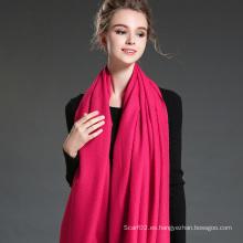 Las mujeres en invierno para mantener cálida llanura Mei rojo poliéster bufanda mantón