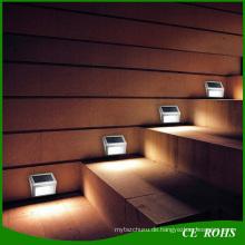 Dünner günstiger Solar-LED-Scheinwerfer für Treppen-Solarzaun-Lampe