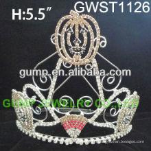 Coeur de cristal personnalisé de citrouille mignon saisonnier -GWST1126