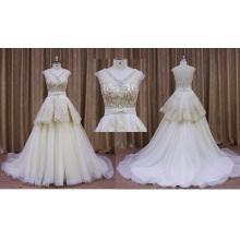 Robe de mariée en dentelle de couleur champagne