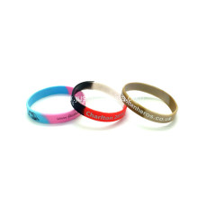 Promotional Segment Printed Silicone Wristbands-202*12*2mm