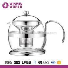 Té de cristal a prueba de calor al por mayor elegante de lujo de 1000 ml Grace Tea Ware