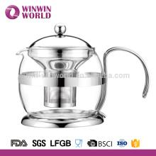Fantasia de vidro resistente à fantasia clara por atacado do chá da benevolência de 1000ml