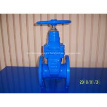 Válvula de compuerta de hierro fundido de asiento elástico