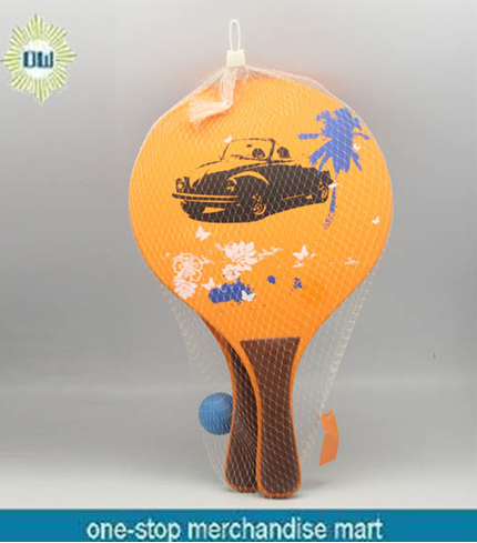 Wooden Paddle Beach Ball Game
