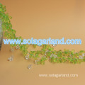 Green Faceted Teardrop Beads Deco Rope Garland