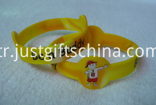 Figured Printed Silicone Bracelets - 12 Inch Adult Full Color Printing