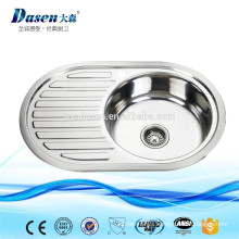 Pakistan Kitchen Design Used Commercial Stainless Steel Top Mount Round Shape Kitchen Sinks with plate