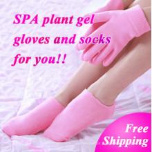 Branquear a pele da mão hidratante tratamento Gel SPA luvas meias