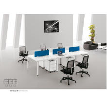 Cubículo blanco moderno de la estación de trabajo de los muebles de oficina o escritorio para 6 personas