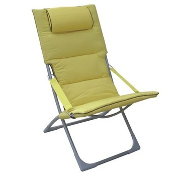 Outdoor sling chair with a headrest
