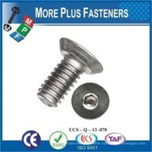 Made in Taiwan Stainless Steel Socket Cap Flat Undercut Plain Finish Metric Sharp Point Machine Screw