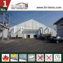 Luxus-weißes neues Design-gebogene Dach-angemessenes Zelt für Verkauf