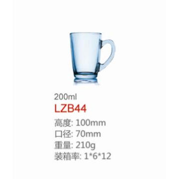 Crystal Colourfull Glass Cup with Handle Dg-1367