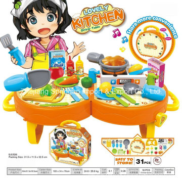 Boutique Playhouse Plastic Toy for Lovely Kitchen Dining Table