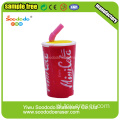 3d Cola Shaped Decor Eraser Art Gifts
