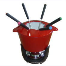 Cute fondue set for cheese/chocolate