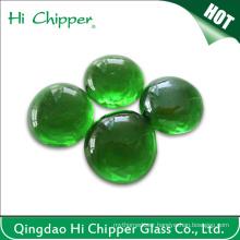 Deark Green Glass Gemstone Fire Pit