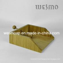 Acessório de mesa de bambu titular de papel