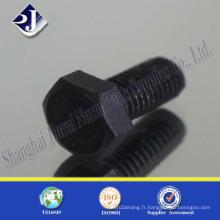 Boulon hexagonal de qualité 10.9 (zinc noir)