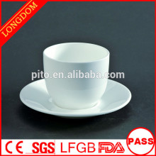 2014 hot sale round porcelain tea cup and sauce