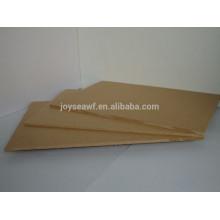 Plain mdf e0 e1 e2 grade fsc bord / dekorative mdf tafeln / melamingesicht mdf