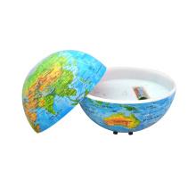 Globo autônomo em volta do mundo com países