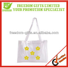 Bolso de compras modificado para requisitos particulares del logotipo y del PVC del color