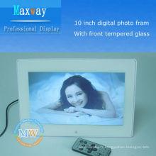 cadre photo numérique de 10 pouces en verre trempé