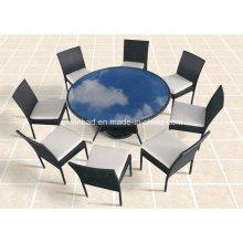 Outdoor / Esszimmer Tisch mit 8 Stühlen / SGS (8214)