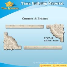 Hardened Polyurethane Plastic 3D Ceiling Moulding For Restaurant Decor