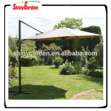 10ft Aluminium Hanging Offset Roma Outdoor Patio Umbrella, Aluminium cantilever umbrella with base