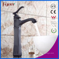 High Body Oil Rubbered Bronze Bathroom Basin Water Mixer Tap