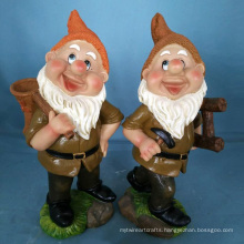 Wholesale Polyresin Dwarf for Garden Lawn Decoration